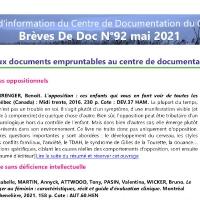 Brèves de doc N°92 - mai 2021