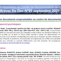 Brèves de doc N°95 - sept 2021